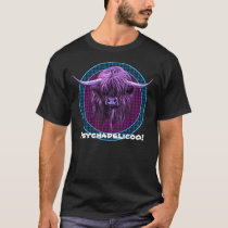 Scottish Highland Cow. Psychadelicoo! T-Shirt