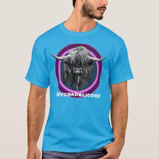 Scottish Highland Cow. Psychadelicoo! T-Shirt