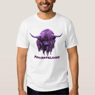 Scottish Highland Cow. Psychadelicoo! T Shirts