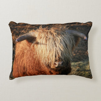 Scottish Highland Cow - Scotland Accent Pillow