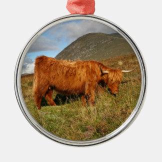 Scottish Highland Cows - Scotland Metal Ornament