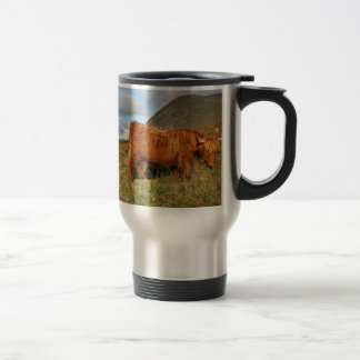 Scottish Highland Cows - Scotland Travel Mug