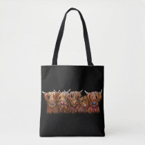 SCoTTiSH HigHLaND CoWs ' THe McHaiRY CooS ' Tote Bag