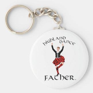 Scottish Highland Dance Father Basic Round Button Keychain
