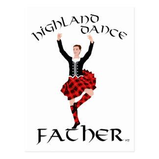 Scottish Highland Dance Father Postcard