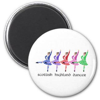 Scottish Highland Dance Line 2 Inch Round Magnet