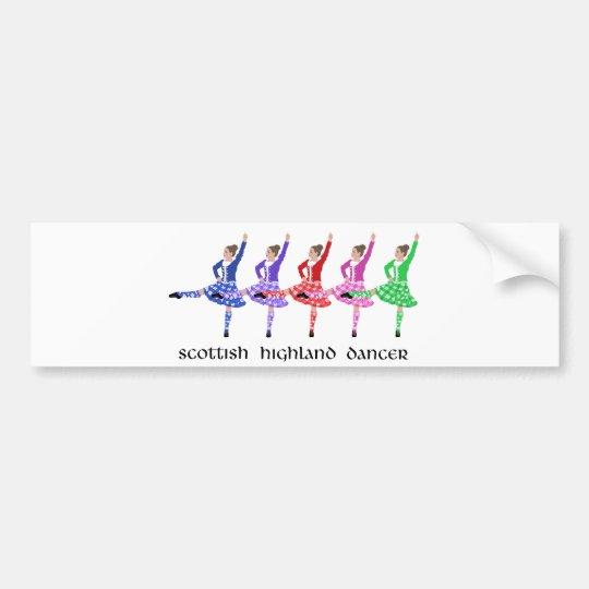 Scottish Highland Dance Line Bumper Sticker