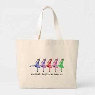 Scottish Highland Dance Line Large Tote Bag da635a9468b6f