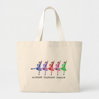 Scottish Highland Dance Line Large Tote Bag