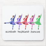 Scottish Highland Dance Line Mouse Pads