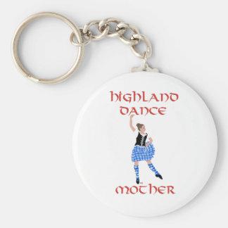 Scottish Highland Dance Mother - Black Vest Basic Round Button Keychain