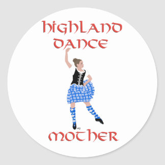 Scottish Highland Dance Mother - Black Vest Classic Round Sticker