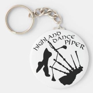 Scottish Highland Dance Piper Basic Round Button Keychain