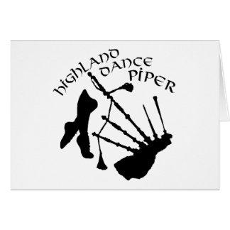 Scottish Highland Dance Piper Card