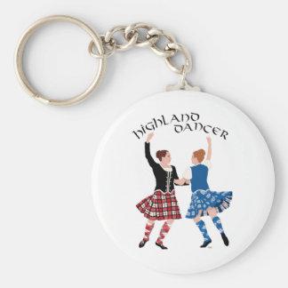 Scottish Highland Dance Reel Basic Round Button Keychain