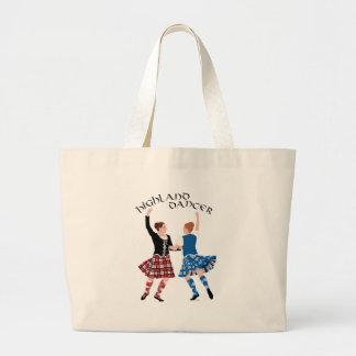 Scottish Highland Dance Reel Large Tote Bag