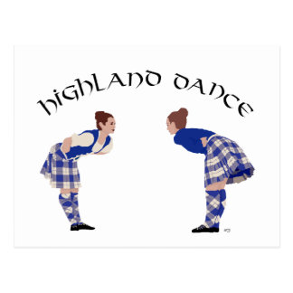 Scottish Highland Dance Reel Postcard