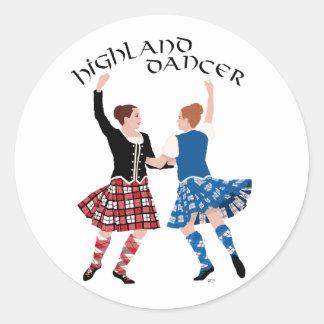 Scottish Highland Dance Reel Round Sticker