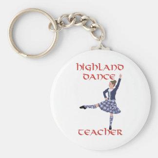 Scottish Highland Dance Teacher Basic Round Button Keychain