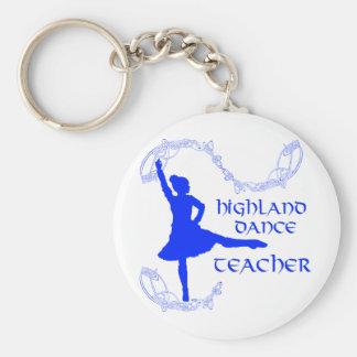 Scottish Highland Dance Teacher - Blue Basic Round Button Keychain