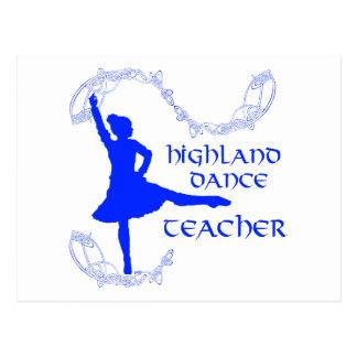 Scottish Highland Dance Teacher - Blue Postcard