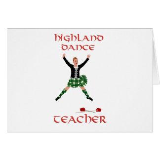 Scottish Highland Dance Teacher Card
