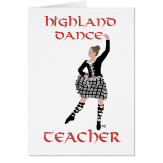 Scottish Highland Dance Teacher Card