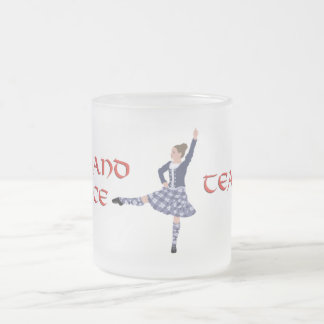 Scottish Highland Dance Teacher Frosted Glass Coffee Mug