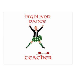 Scottish Highland Dance Teacher Postcard