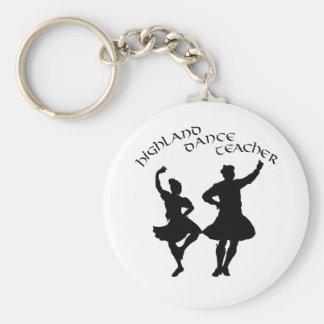 Scottish Highland Dance Teacher - Silhouette Basic Round Button Keychain