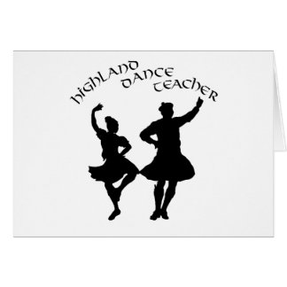 Scottish Highland Dance Teacher - Silhouette Card