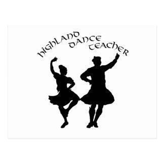 Scottish Highland Dance Teacher - Silhouette Postcard