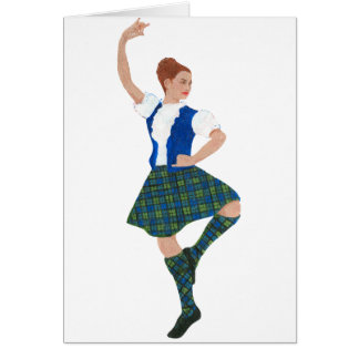 Scottish Highland Dancer - Black Watch Card