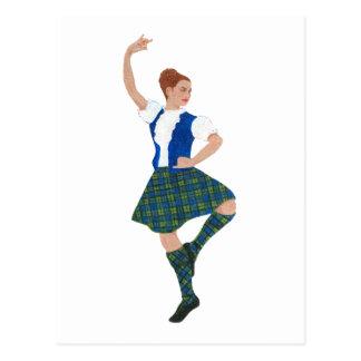 Scottish Highland Dancer - Black Watch Postcard