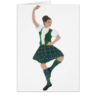 Scottish Highland Dancer Campbell Card
