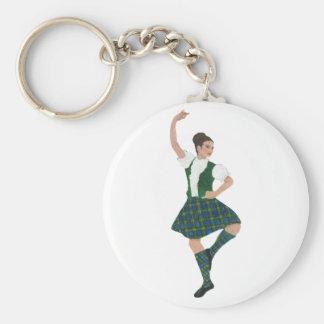 Scottish Highland Dancer Campbell Keychain