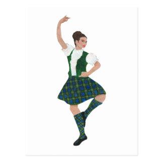 Scottish Highland Dancer Campbell Postcard