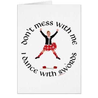 Scottish Highland Dancer Card