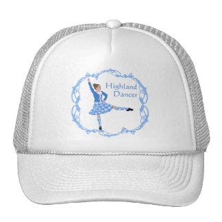 Scottish Highland Dancer Celtic Knotwork Blue Trucker Hat