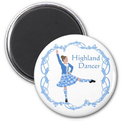 Scottish Highland Dancer Celtic Knotwork Blue