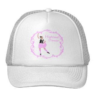 Scottish Highland Dancer Celtic Knotwork Pink Trucker Hat