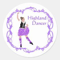 Scottish Highland Dancer Celtic Knotwork Purple