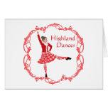 Scottish Highland Dancer Celtic Knotwork Red