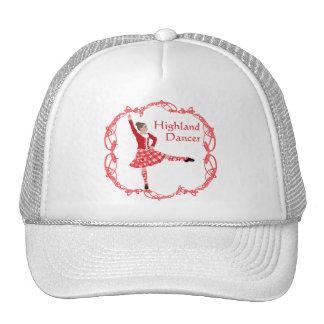 Scottish Highland Dancer Celtic Knotwork Red Trucker Hat