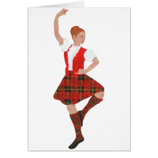 Scottish Highland Dancer Erskine Tartan Card