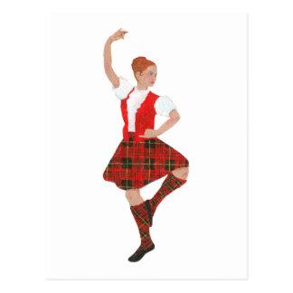 Scottish Highland Dancer Erskine Tartan Postcard