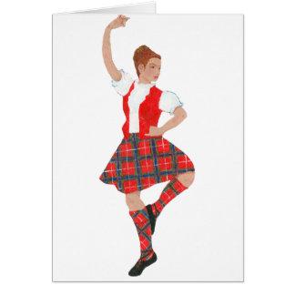 Scottish Highland Dancer Fraser Tartan Card