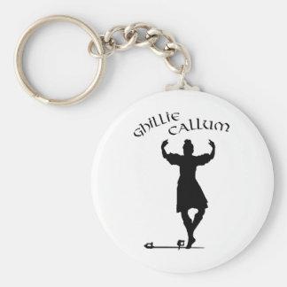 Scottish Highland Dancer Ghillie Callum Basic Round Button Keychain