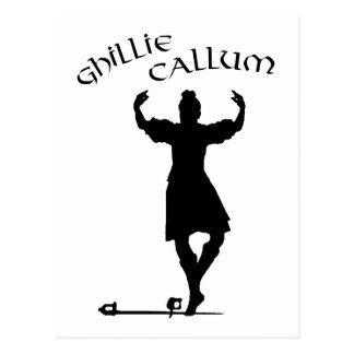 Scottish Highland Dancer Ghillie Callum Postcard