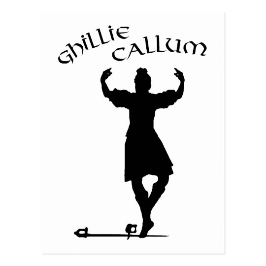 Scottish Highland Dancer Ghillie Callum Postcard